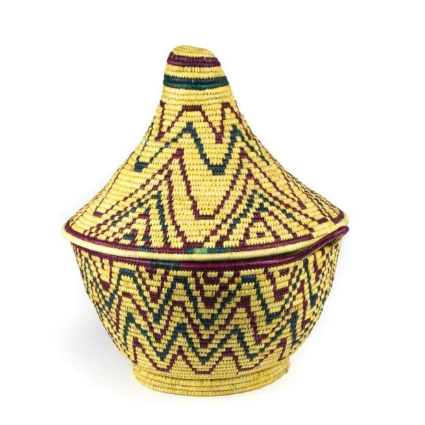 A Little Morocco, Berber Basket - Large Vintage Zigzag single