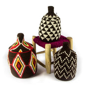 A Little Morocco, Berber Basket - Medium Brown and Red Group