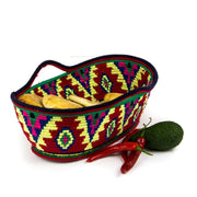 Berber Basket - Yellow n' Red Bowl 37x25cm-Berber Basket-A Little Morocco