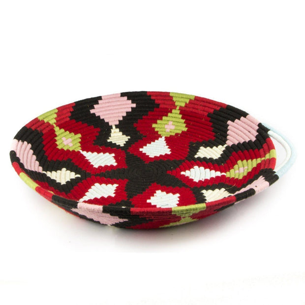 Berber Platter - Red Pink n' Brown 45cm-Berber Basket-A Little Morocco