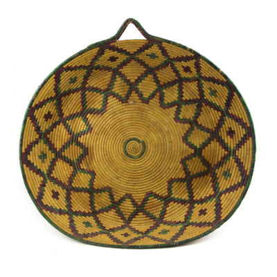 Berber Platter - Tan n' Purple 56cm-Berber Basket-A Little Morocco