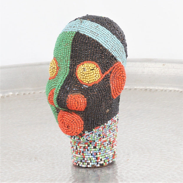 Cameroon Beaded Head - Day and Night 15cm-Cameroon Head-A Little Morocco