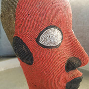 A little Morocco Cameroon Beaded Head - Tangerine King detail