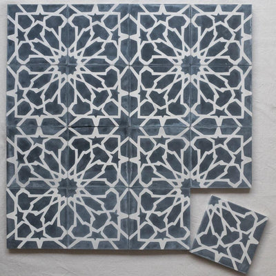 a little morocco encaustic tiles black and white tessellations 16 tile lay