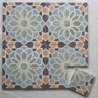 A Little Morocco, Tiles Peach Bloom Tessellations Flatlay