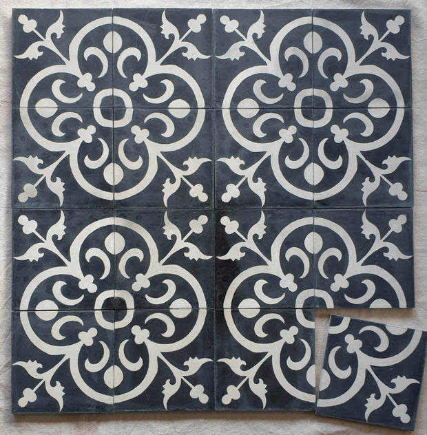 Encaustic Tiles - Black & White Classique