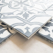 a little morocco, Encaustic Tiles Palais Khum black and white side view