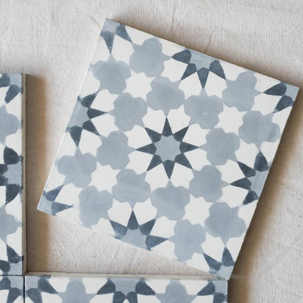 A Little Morocco, Encaustic Tiles - Cloudy Blossom Single