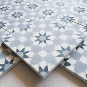 A Little Morocco, Encaustic Tiles - Cloudy Blossom Side View