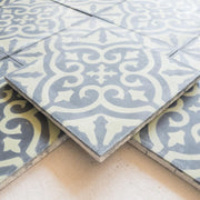 Encaustic Tiles - Green & Black Floral side view