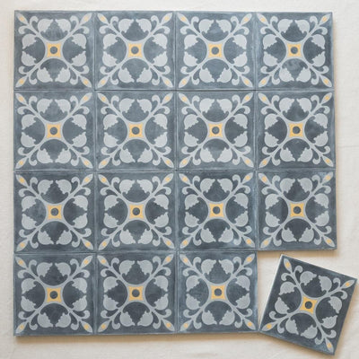 a little morocco encaustic tiles midnight lay