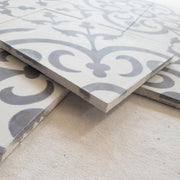 a little morocco, encaustic tiles natural classique side view