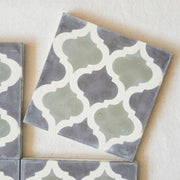 Encaustic Tiles - Sage Arabesque | A Little Morocco single tile