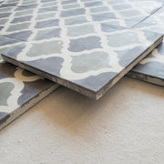 Encaustic Tiles - Sage Arabesque | A Little Morocco side view