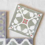 a little morocco, encaustic tiles sage garden single tile B