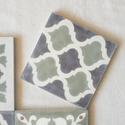 a little morocco, encaustic tiles sage garden single tile C