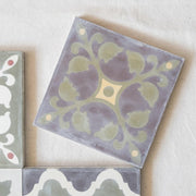a little morocco, encaustic tiles sage garden single tile A