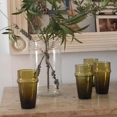 A LITTLE MOROCCO Beldi Glasses Olive Styled