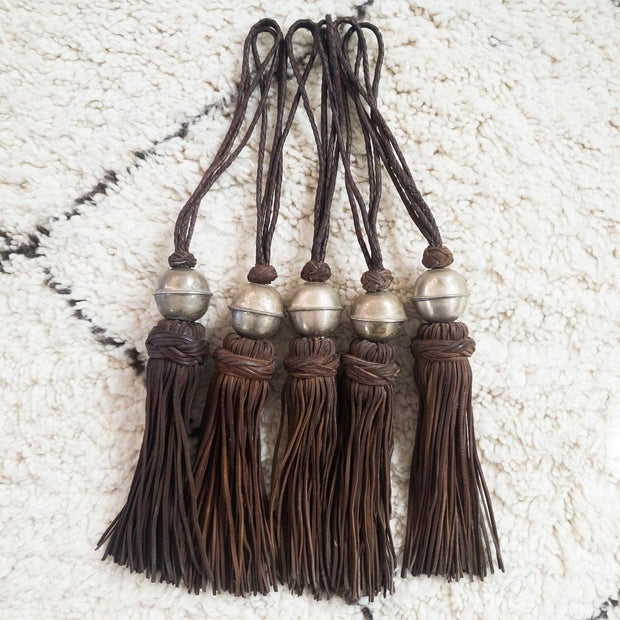 A Little Morocco, Leather Tassel Brown