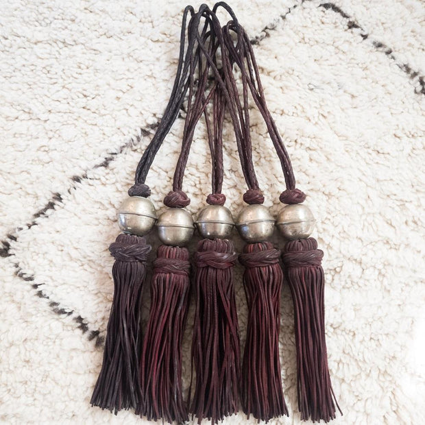A Little Morocco, Leather Tassel Burgundy