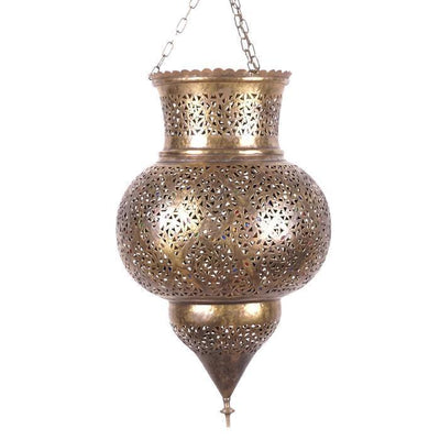 Light Shade - Metal Pinnacle Pendant Large-Lights and Lanterns-A Little Morocco