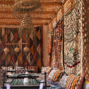 Light Shade - Rattan Palm Leaf Large-Lights and Lanterns-A Little Morocco