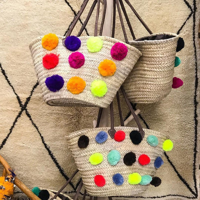 Basket Bag - Moroccan Market Basket-Berber Basket-A Little Morocco