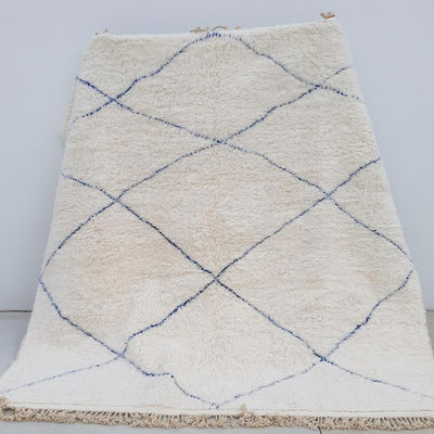 A Little Morocco, Moroccan Beni Ourain Rug - Blue Sapphire Front