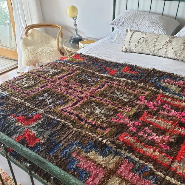 a little morocco boucherouite rug rocky road styled