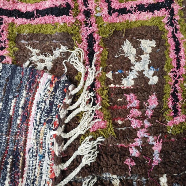 a little morocco boucherouite rug rocky road detail