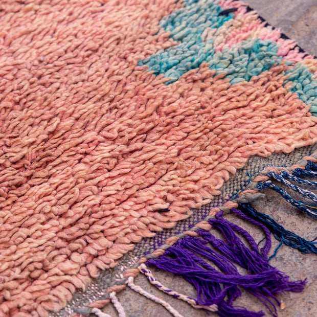 a little morocco runner rug peach pout detail