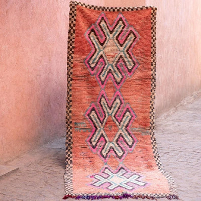 a little morocco runner rug sweet peach product