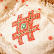 A Little Morocco, Moroccan Cactus Silk Cushion Red Detail