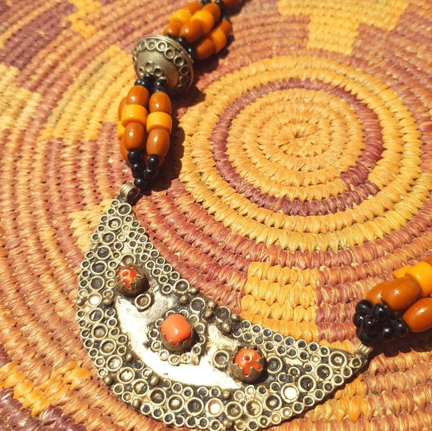 A Little Morocco Crescent Pendant Necklace Product Detail