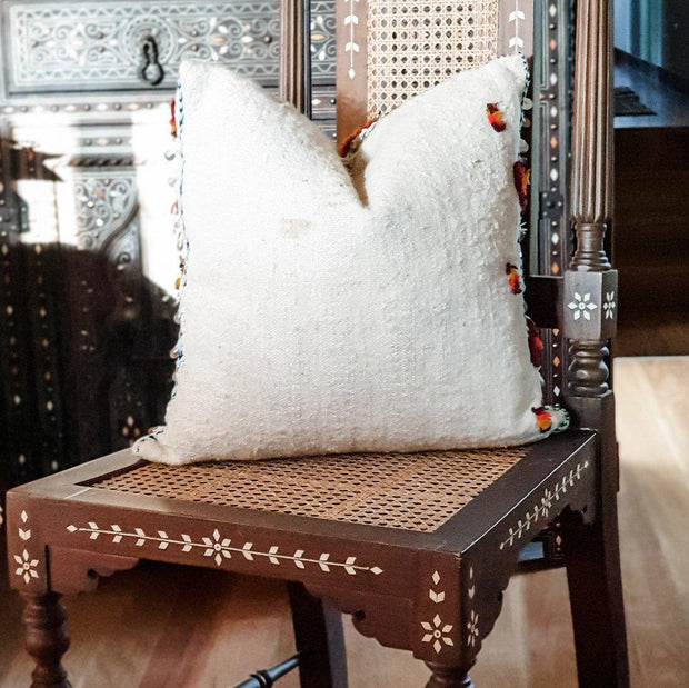 A Little Morocco, Moroccan Cushion Berber Star Motif Style A Back