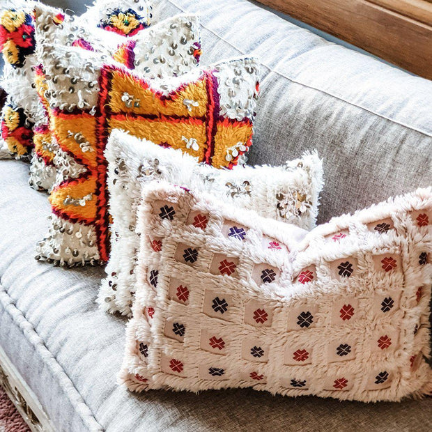 A Little Morocco, Moroccan Cushion Berber Star Motif Style A Styled