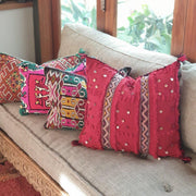a little morocco, Moroccan cushion handira red styled