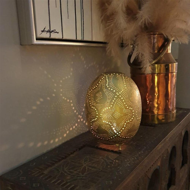 a little morocco table lantern lattice oval styled
