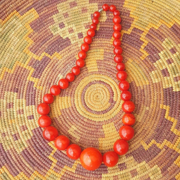 Nubian Amber Balls Necklace
