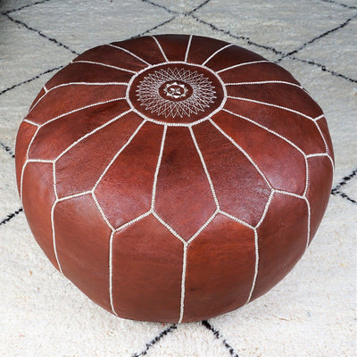 Ottoman - Chocolate Extra Large-Ottoman-A Little Morocco