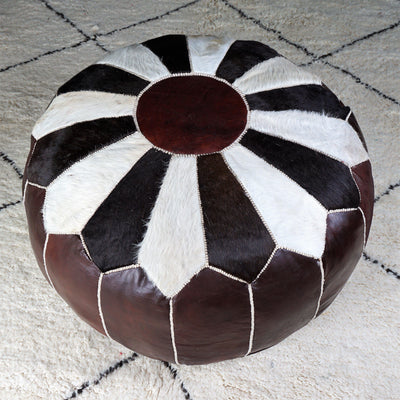 Ottoman - Chocolate n' Cream Extra Large-Ottoman-A Little Morocco
