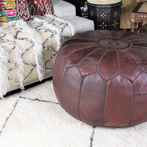 Ottoman - Dark Chocolate Extra Large-Ottoman-A Little Morocco