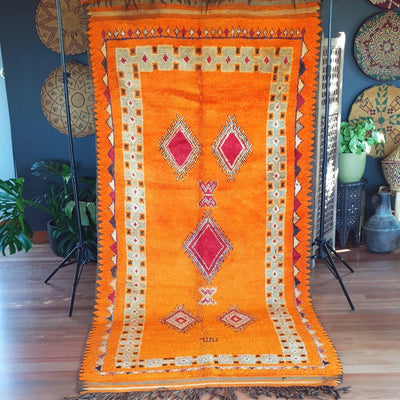 "Rug - ""Citrus Sunrise"" Oulad Bousbaa 286x134-Rug-A Little Morocco"