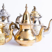 Tableware - Brass Teapot with Peaked Lid-Tableware-A Little Morocco