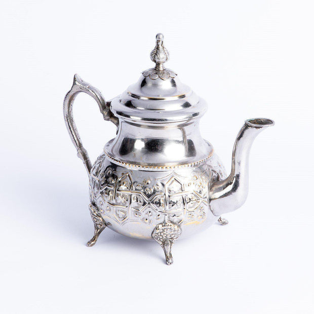 Tableware - Silver Teapot with Leaf Tip Lid-Tableware-A Little Morocco