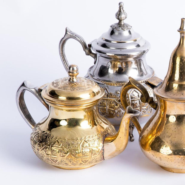 Tableware - Small Brass Teapot with Lid-Tableware-A Little Morocco
