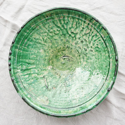 Tamegroute - Green Plate 30cm-Tamegroute-A Little Morocco