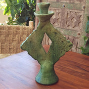 A Little Morocco, Tamegroute Green Square Candle Holder front