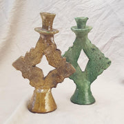A Little Morocco, Tamegroute - Green Square Candle Holder Group B
