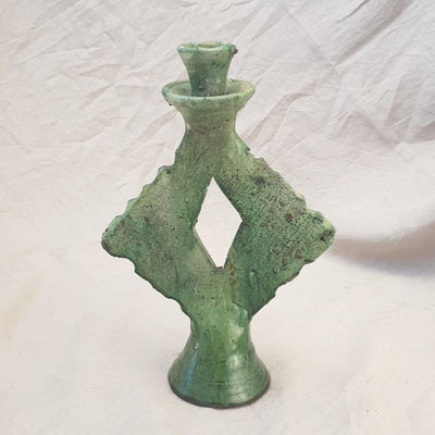 A Little Morocco, Tamegroute - Green Square Candle Holder Option A